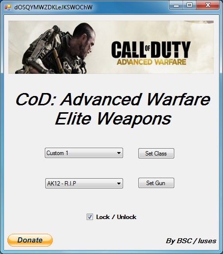 CALL OF DUTY: ADVANCED WARFARE / ELITE WEAPONS TOOL V1