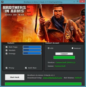 Brothers in Arms 3 Hack v1.1