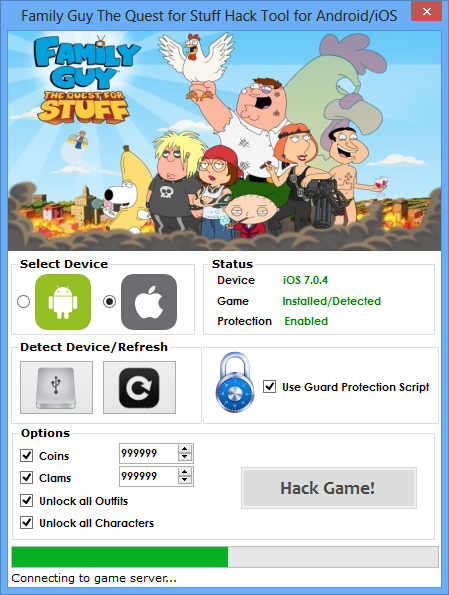 FAMILY GUY: THE QUEST FOR STUFF HACK
