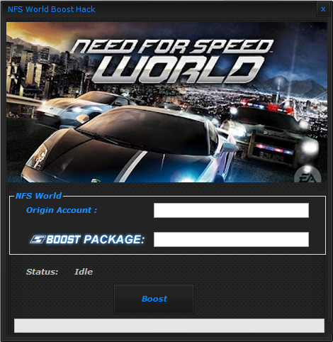 Need for Speed World Boost Hack