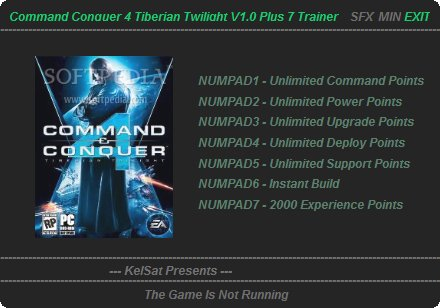 Command and Conquer 4 - Trainer