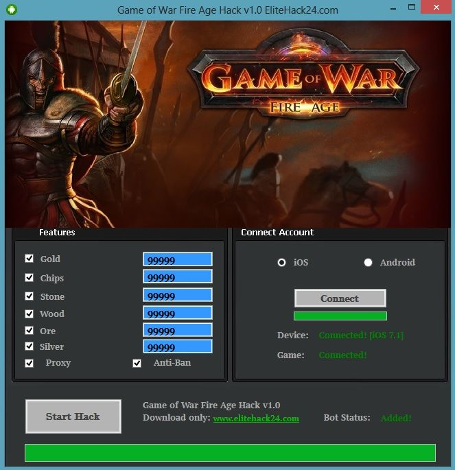 Game of War Fire Age Hack Online