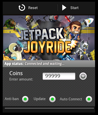 Jetpack Joyride android hack – edition with free coins cheats The Jetpack Joyride android hack – edition with free coins cheats is finally available for download! Our skilled team has finally managed to crack the code and obtain a stable version for this game! Get the newest Jetpack Joyride apk mod right now and get ready to unlock all sorts of jetpacks and power-ups!