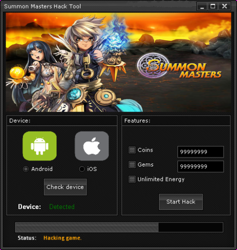 Summon Masters Hack v1.9
