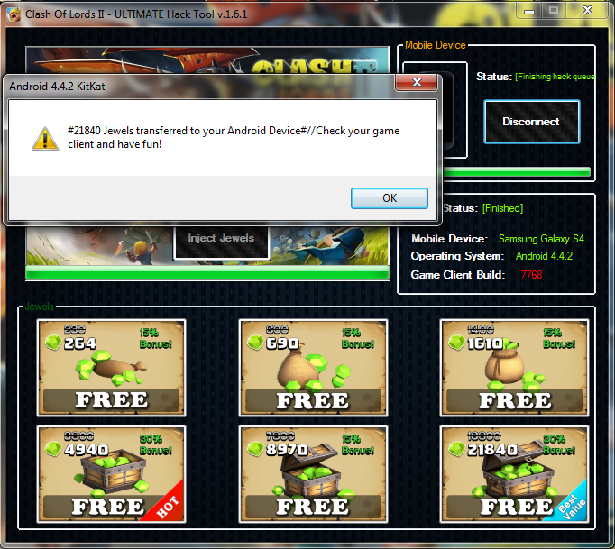 Clash of Lords 2 hack tool