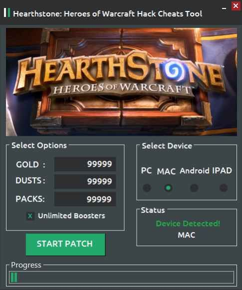 Hearthstone Hack gold, Unlimited booster