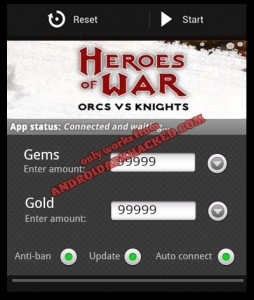 Heroes of War Orcs vs Knights hack