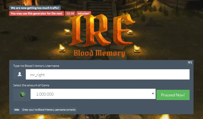 Ire – Blood Memory Hack