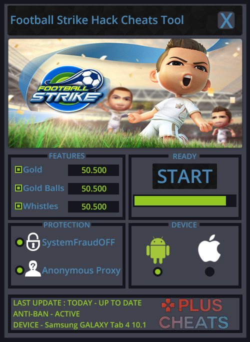 Football Strike Hack Cheats Add Unlimited Gold, Gold Balls and Whistles