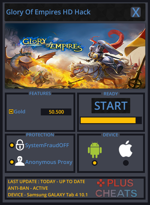 Glory Of Empires HD Hack Cheats Tool Unlimited Gold