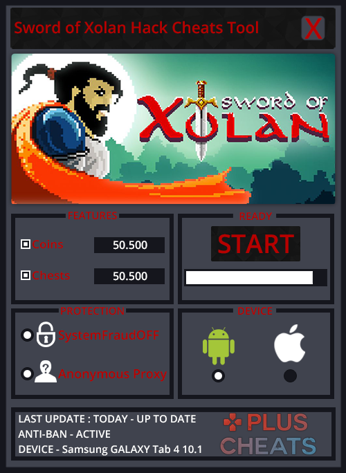 Sword of Xolan hack