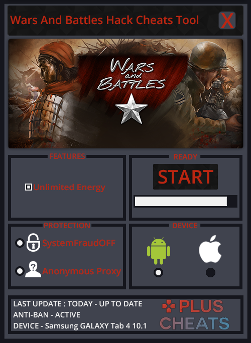 Wars And Battles Hack Cheats Add Unlimited Energy