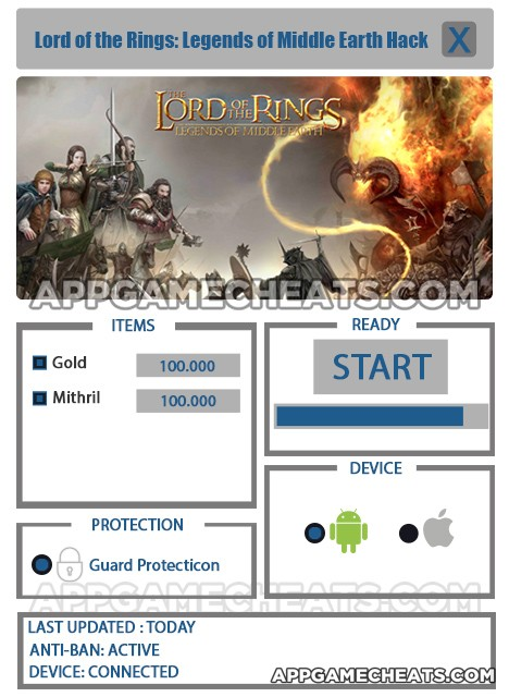 Lord of the Rings: Legends Hack for Gold & Mithril