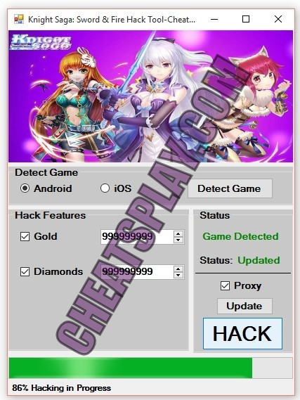 Knight Saga: Sword and Fire Hack Gold Unlimited Diamonds Working on Android and iOS devices
