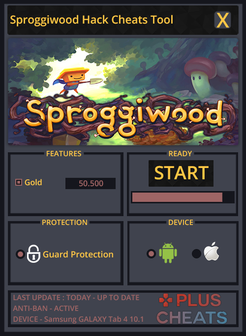 Sproggiwood Cheat Tool