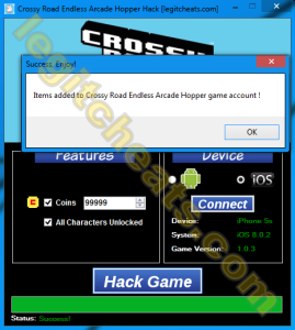 Crossy Road HACK for iOS & android (Endless Arcade Hopper)