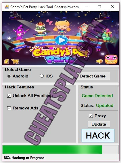 Candys Pet Party Hack Tool