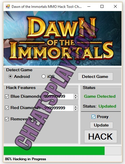 Dawn of the Immortals MMO Hack Tool