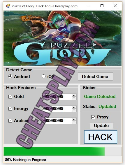 Puzzle & Glory Hack Tool