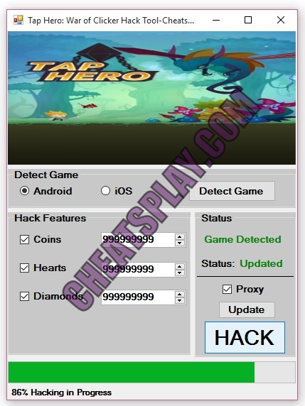 Tap Hero War of Clicker Hack Tool