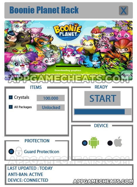 Boonie Planet Hack for Crystals & All Packages