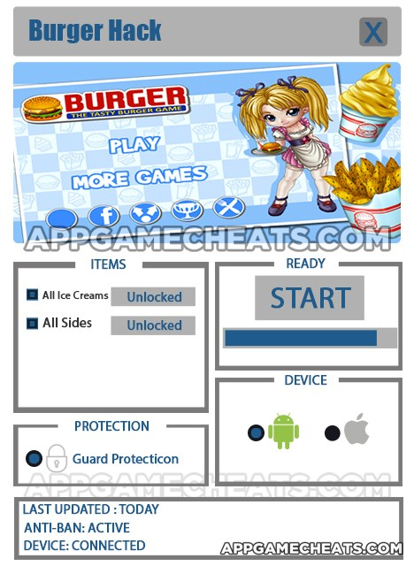 burger-cheats-hack-all-ice-creams-all-sides