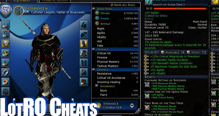 Lord of the Rings Online Hacks, Lord of the Rings Online Cheats