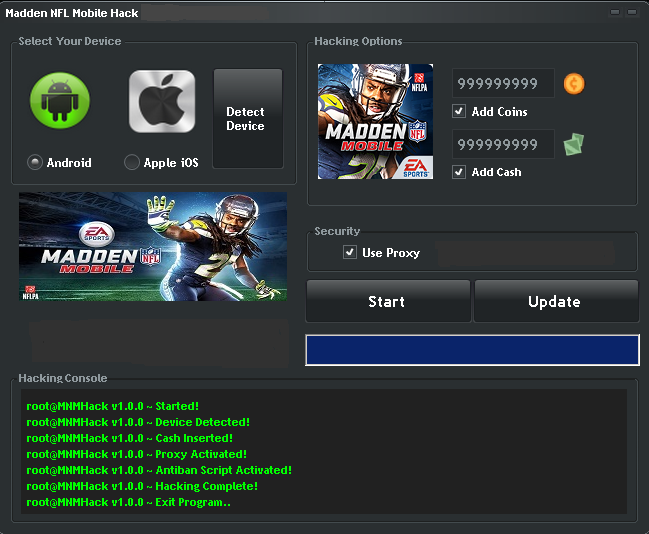 Madden NFL Mobile Hack coins & cash for iOS & android