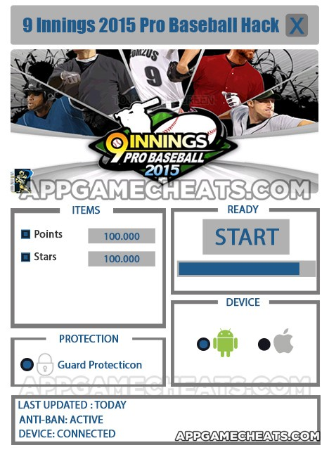nine-innings-2015-pro-baseball-cheats-hack-points-stars