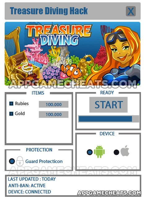 Treasure Diving Hack