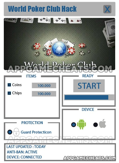 World Poker Club Hack for Coins & Chips
