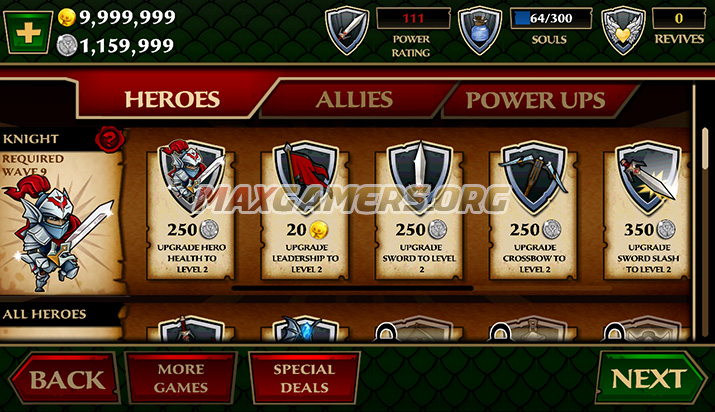 Defenders and Dragons Cheats