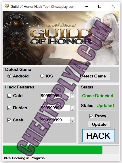 Guild of Honor Hack Tool