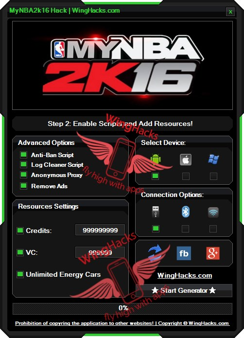 MyNBA2k16 Hack Cheat Android iOS Download Mod to this game which you can find here
