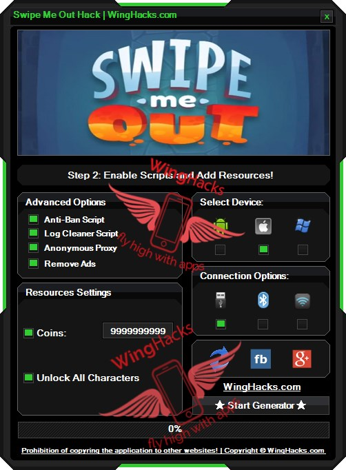 Swipe Me Out Hack Cheat Trick Unlimited Coins in game to get unlimited coins