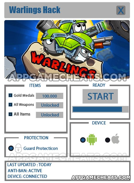 warlings-cheats-hack-gold-medals-all-weapons-all-items