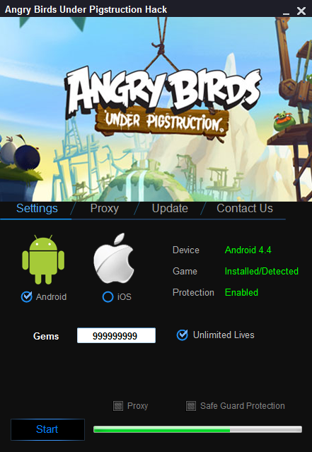 Angry Birds Under Pigstruction Hack