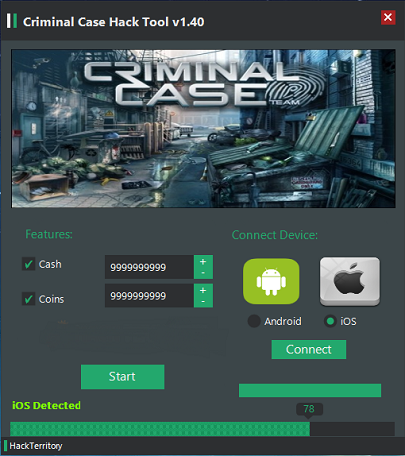 Criminal Case Android iOS Hack Tool