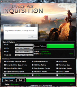 Dragon Age Inquisition Hack Tool