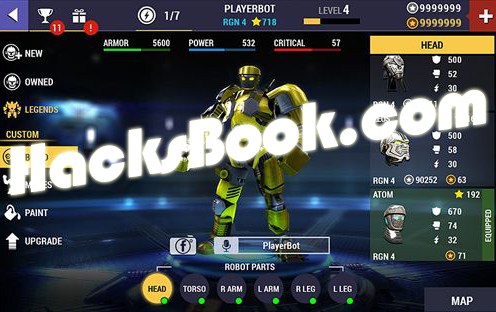 Real Steel Champions Hack Coins, ADD Unlimited Gold, Unlimited Energy Core and Unlock All Robots 2