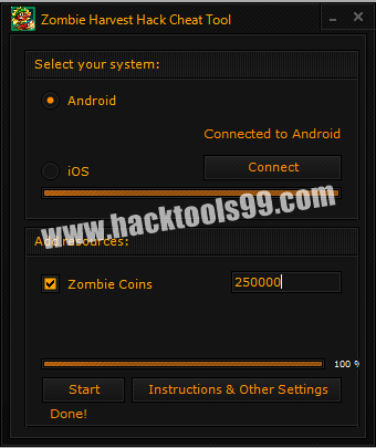 Zombie Harvest Cheat Tool