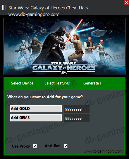 Star Wars: Galaxy of Heroes Hack Cheats Triche Unlimited Gold and Gems