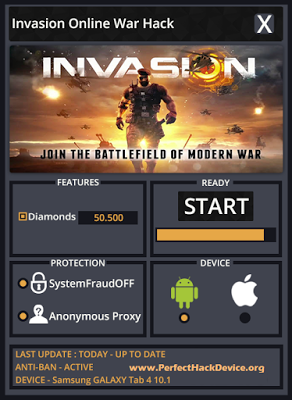 Invasion Online War Hack Unlimited Diamonds, Works for all iOS/Android Devices