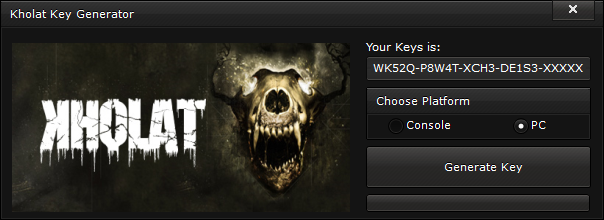 Kholat Key Generator generate UNLIMITED KEYS