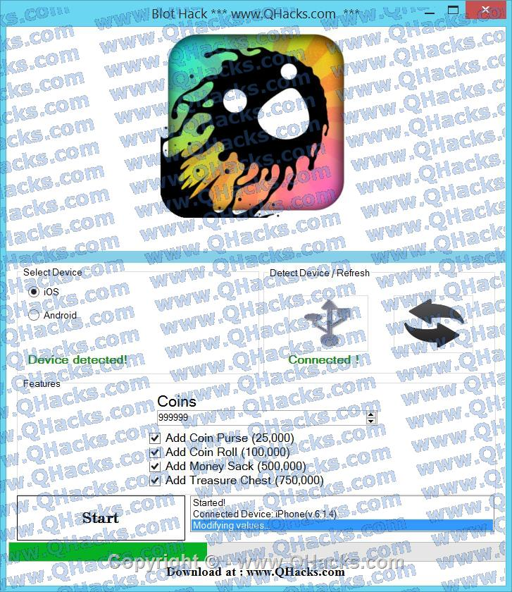Blot Hack Cheats and Tricks Unlimited Coins  # Add Money Sack (500,000) # Add Treasure Chest (750,000)