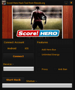 Score Hero v1.1 Coins, Unlimited Gold, Unlimited Supplies and Double XP