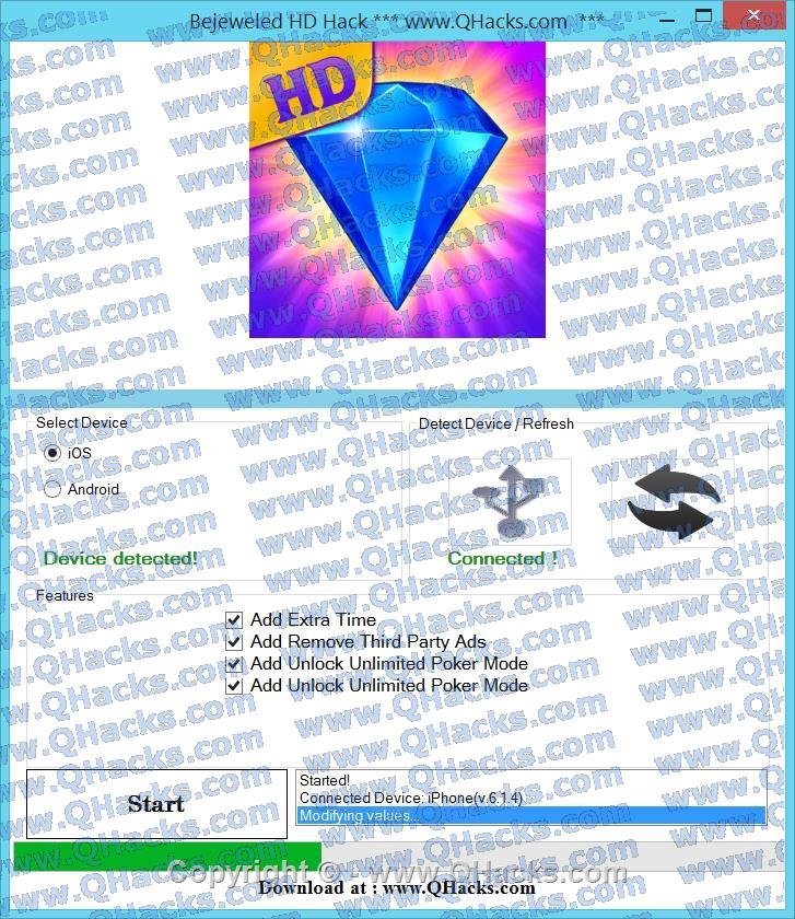 Bejeweled HD Hack Cheats and Tricks Add Remove Third Party Ads