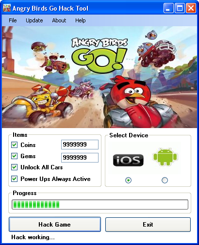 angry birds go hack tool download Angry Birds Go Hack Tool Download