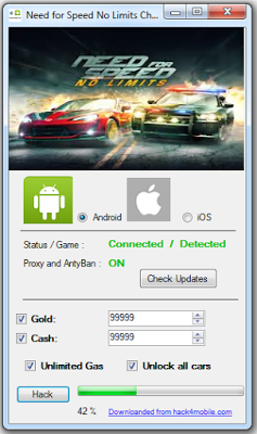 Need for Speed No Limits Hack Welcome, If you are looking for  Need for Speed No Limits tool but you are very difficult to find on the internet do not worry friends, you can get a  Need for Speed No Limits hack Unlimited gold, cash, Gas and Unloked Cars. This tool will create a generator that will produce unlimited items. Hack This tool is clean of viruses and you can use it safely. This  Need for Speed No Limits hacks tool is very easy to use you can contact to android or IOS you and you will get unlimited coins. This tool will always be our updates. For that you do not hesitate to contact us if they find trouble.