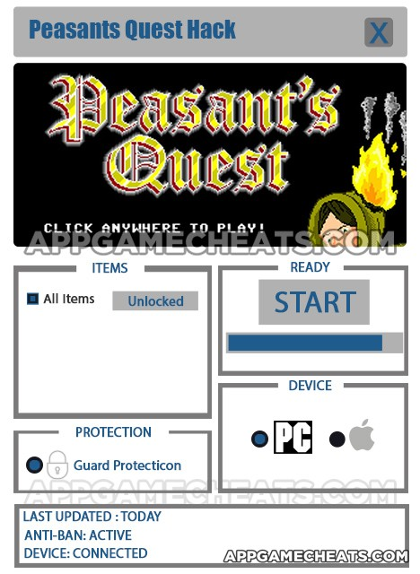 Peasant's Quest Hack for All Items Unlock